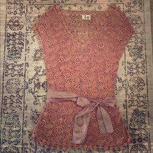 Crochet tunic in antique Apricot color
